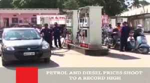 News video: Petrol And Diesel Prices Shoot To A Record High