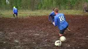 News video: Playing dirty: swamp soccer a hit in Russia ahead of World Cup