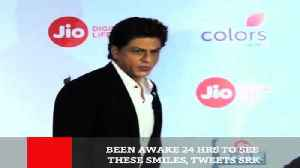 News video: Been Awake 24 Hrs To See These Smiles, Tweets SRK