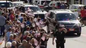 News video: A Maine hero's welcomefor George H.W. Bush