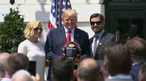 News video: Trump praises NASCAR drivers for standing during anthem