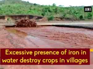 News video: Excessive presence of iron in water destroy crops in villages