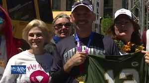 News video: Man raising money for colleague fighting cancer
