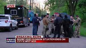 News video: Barricaded gunman situation with elderly man ends in Detroit