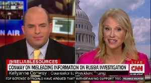 News video: Kellyanne Conway confronts CNN's Stelter: 'Did you vote for Hillary?'