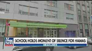News video: NY school under fire for holding a moment of silence for Hamas