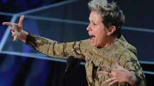 News video: Frances McDormand Wins Best Actress; Asks EVERY Female Nominee To Stand With Her | 2018 Oscars