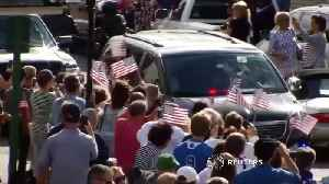 News video: A Maine hero's welcome for George H.W. Bush
