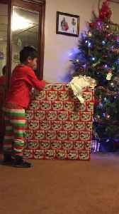 News video: Boy Is Extremely Excited For His Barbie Dream House Present