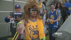 News video: Warriors Fans Celebrate As Team Dominates Rockets In Game 3