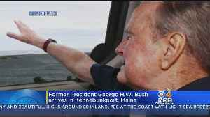 News video: Former President George H.W. Bush Arrives In Kennebunkport, Maine