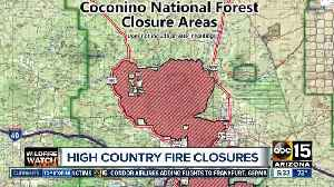 News video: Coconino National Forest areas closing due to fire, safety issues