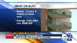 News video: Should you rent or buy a home in Denver?