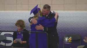 News video: Dixon High Graduation Cermony Honors Officer Who Protected Students