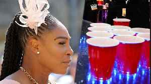 Serena Williams DOMINATED In Beer Pong At ROYAL WEDDING!