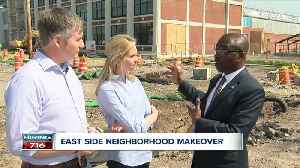 News video: Brown promises a gleaming transformation of east-side neighborhoodo