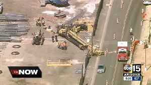 News video: Worker missing after crane collapse near Phoenix Sky Harbor Airport