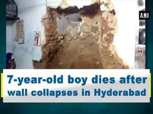7-year-old boy dies after wall collapses in Hyderabad [Video]