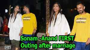 Sonam -Anand FIRST Outing after marriage