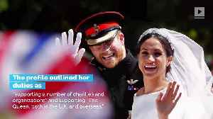 News video: Meghan, Duchess of Sussex, Is 'Proud to Be a Woman and a Feminist'