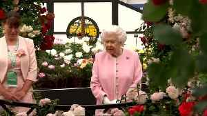 Royal visit to Chelsea Flower show [Video]