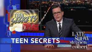 News video: The Late Shows' Teen Secrets: Cheese Drugs