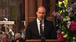 News video: Prince William gives reading at Manchester bombing memorial service