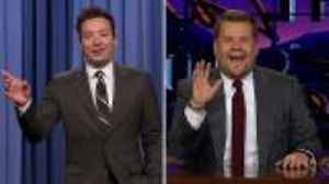 News video: Jimmy Fallon, James Corden React to Royal Wedding | THR News