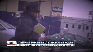 News video: Convicted Detroit cadaver dealer to be sentenced on Tuesday, got an earful Monday