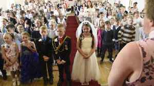 News video: British students create their own version of the royal wedding