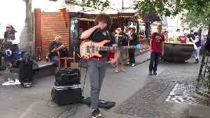 News video: Busking Bass Player with a Loop Pedal