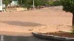 News video: Flash Floods Turn Road Into River in Mesa Hills