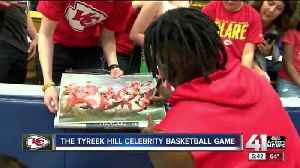 News video: Chiefs wideout Tyreek Hill hosts celebrity basketball game