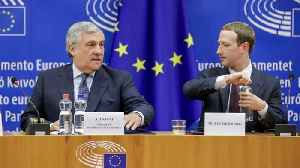 News video: Zuckerberg Apologizes To European Lawmakers Over Facebook Scandals