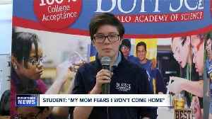 "Student: ""My mom fears I won't come home"""