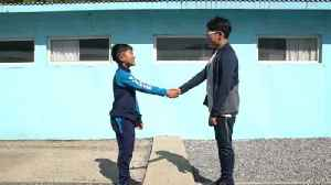 News video: Hoping for Korean peace at a fake DMZ