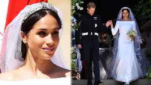 News video: All The Details Behind Meghan Markle's STUNNING Wedding Gown