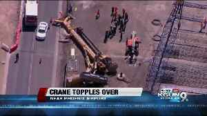 News video: Person unaccounted for after crane falls near Phoenix Sky Harbor Airport