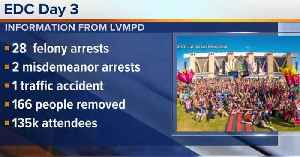 News video: 30 people arrested on day 3 of Electric Daisy Carnival in Las Vegas