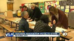 News video: Teachers association votes to strike