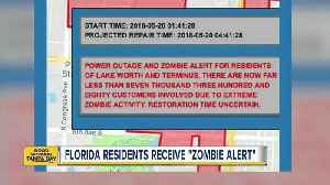 News video: Florida city issues 'Zombie Alert' to residents during power outage