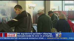 News video: Some Pa. Lawmakers Want To Open Primaries To Independent Voters