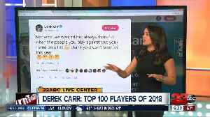 News video: Derek Carr named in Top 100 Players in the NFL in 2018