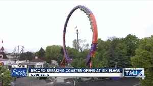 News video: Record-breaking loop roller coaster opens at Six Flags Great America