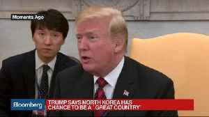 News video: Trump Says There's a Chance Kim Meeting Might Not Happen