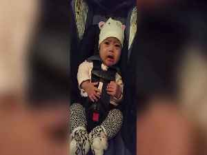 News video: National Anthem Brings Baby Girl To Tears
