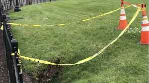 News video: The White House Lawn Has Developed A Sinkhole