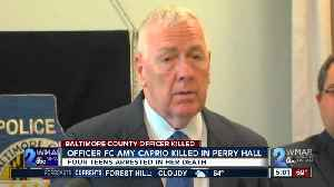 News video: Suspects arrested, murder charges filed in death of Baltimore County Police Officer Amy Caprio