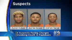 News video: 4 Suspects Facing Charges In Paulsboro Stabbing Death