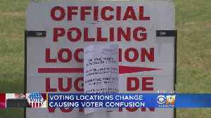 News video: Voting Locations Change Cause Confusion In North Texas